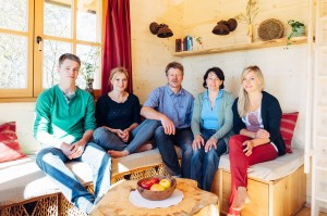 Familie Riedl im Baumhaus Samerberg